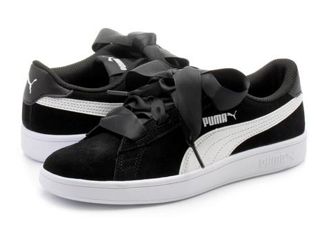 Puma Cipő - Smash V2 Ribbon Jr - 36600301-blk - Office Shoes ... c98b7ff1fa